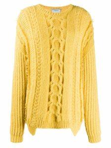 Stella McCartney cable knit sweater - Yellow