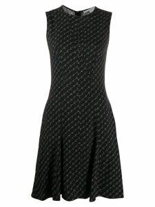 Stella McCartney monogram crepe dress - Black