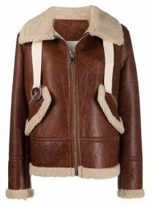Liska shearling lined jacket - Brown