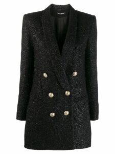 Balmain double-breasted shimmer blazer - Black
