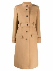 Chloé high collar single breasted coat - Neutrals