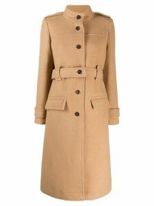 Chloé high collar single breasted coat - Neutrals