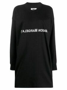 Mm6 Maison Margiela reversed logo jersey dress - Black
