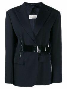 Maison Margiela contrast belt blazer - Blue