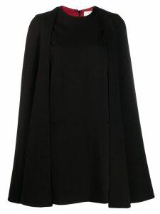 Sara Battaglia cape sleeve dress - Black