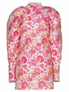 Rotate floral puff-sleeve dress - Pink