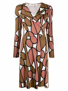 Diane von Furstenberg long-sleeved printed dress - Neutrals