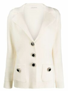 Alessandra Rich single-breasted cardigan - White