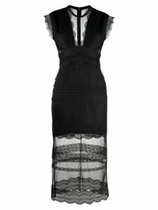 Three Floor Delight lace fitted dress - Black