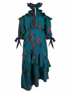 Three Floor Corsica printed ruffle dress - Green