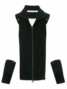 Veronica Beard cut-away knitted cardigan - Black