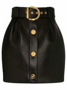 Versace high-waisted tulip mini-skirt - Black