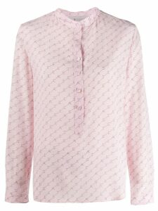 Stella McCartney logo diagonal striped shirt - Pink