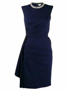 Alexander McQueen draped-effect pencil dress - Blue