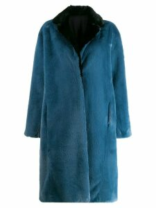 Heron Preston concealed front coat - Blue