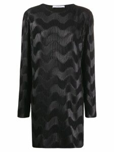 Givenchy wave pleated short dress - Black