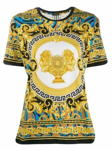Versace lion baroque print T-shirt - Yellow