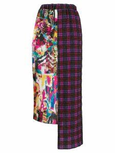 Ultràchic asymmetric pleated skirt - PINK