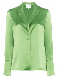 Galvan classic satin shirt - Green