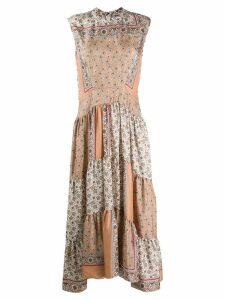Chloé patchwork printed dress - Neutrals