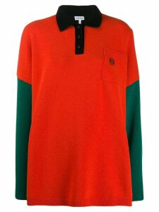 Loewe knitted colourblock polo shirt - Green