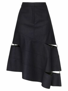 Tibi asymmetric cut-out skirt - Blue