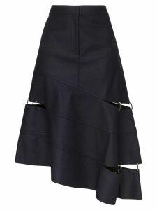 Tibi asymmetric cut-out skirt - Blue