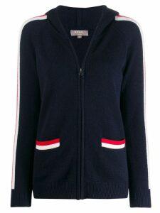 N.Peal knitted zip hoodie - Blue