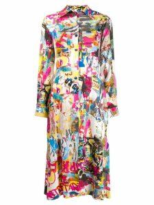 Ultràchic Murales print shirt dress - Pink