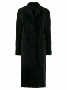 Sprung Frères single-breasted long coat - Black