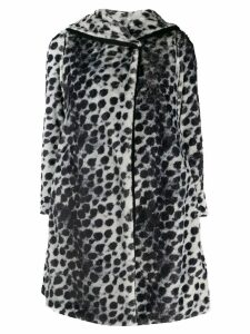 Emporio Armani reversible leopard print coat - White