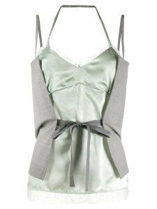 Mm6 Maison Margiela wrap tie lace camisole - Grey