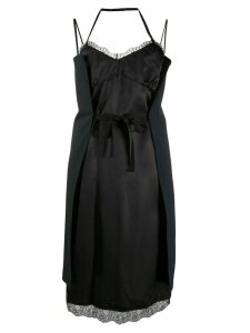 Mm6 Maison Margiela wrap tie slip dress - Black