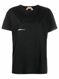 Nº21 inverted logo print T-shirt - Black