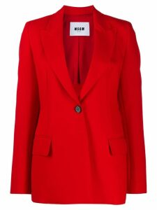 MSGM single-breasted blazer - Red