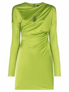Versace ruched slash-front mini dress - Green