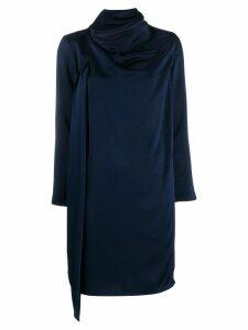 Gianluca Capannolo draped midi dress - Blue