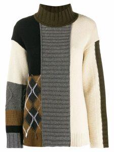 Pringle of Scotland oversized patchwork jumper - Grey