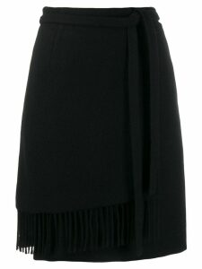 Woolrich fringed wrap skirt - Black
