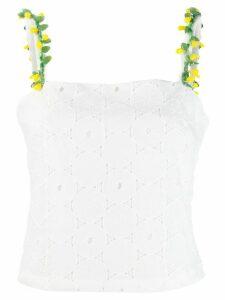 Staud anglaise lace sleeveless top - White