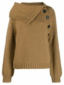 Nº21 knitted buttoned sweater - Brown