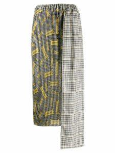 Ultràchic asymmetric midi skirt - Black