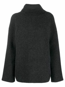 Jacquemus ribbed turtle neck jumper - Grey