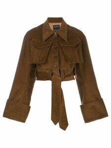 Rokh patch pocket jacket - Brown