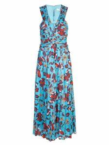 Derek Lam 10 Crosby floral print long dress - Blue