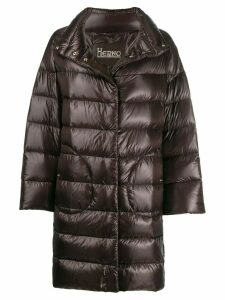 Herno quilted high neck coat - Brown