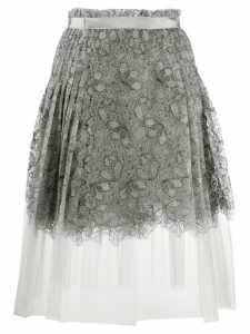 Ermanno Scervino pleated lace midi skirt - Grey