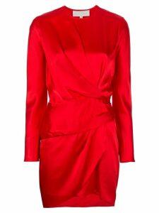 Michelle Mason Origami mini dress - Red