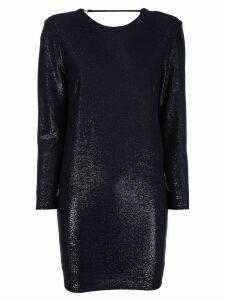 Michelle Mason metallic-effect mini dress - Blue