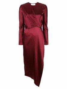Michelle Mason Origami midi dress - Red